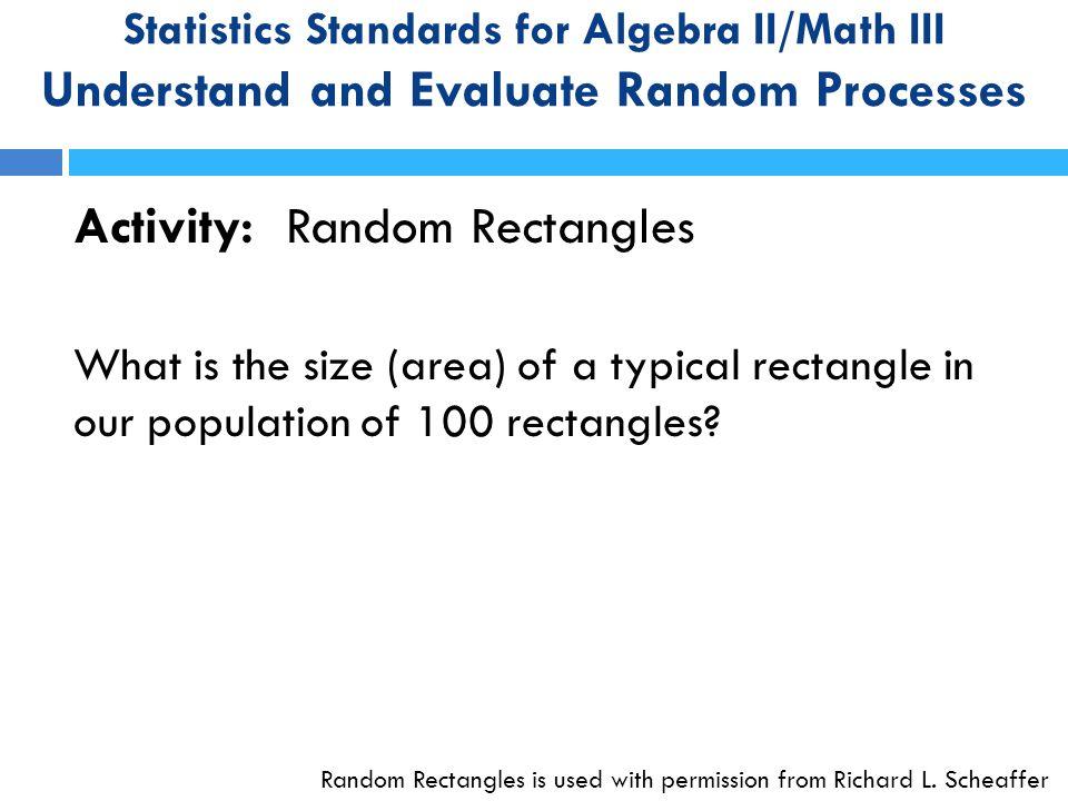 Activity: Random Rectangles