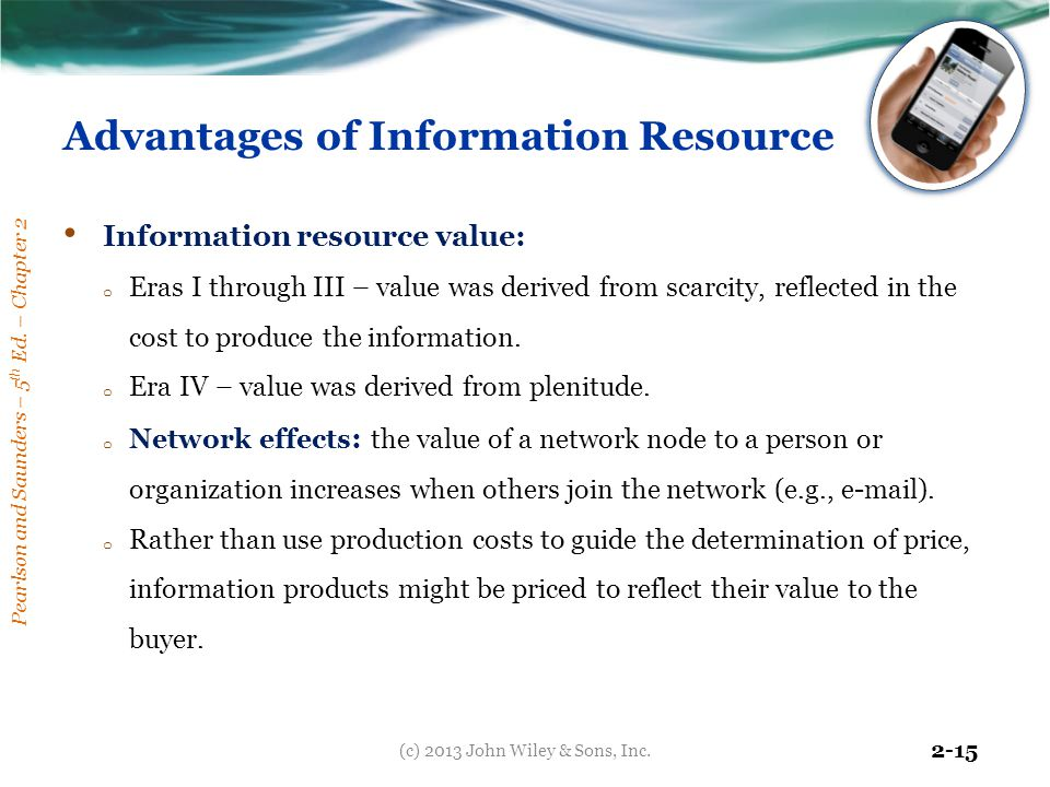 Advantages of Information Resource