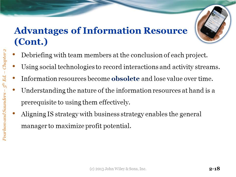 Advantages of Information Resource (Cont.)