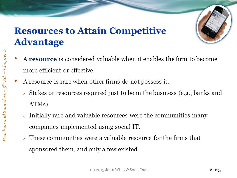 Resources to Attain Competitive Advantage