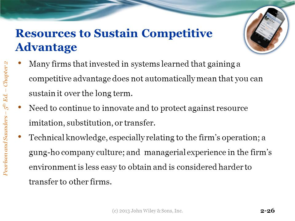 Resources to Sustain Competitive Advantage
