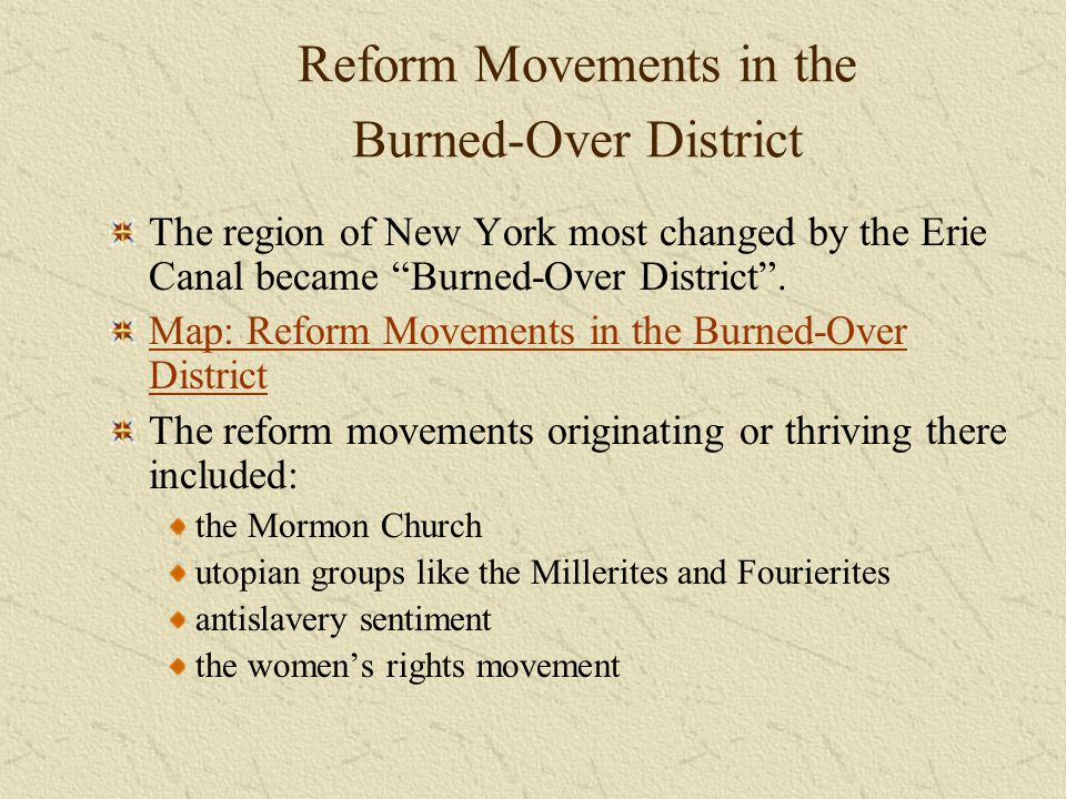 Reform Movements in the Burned-Over District