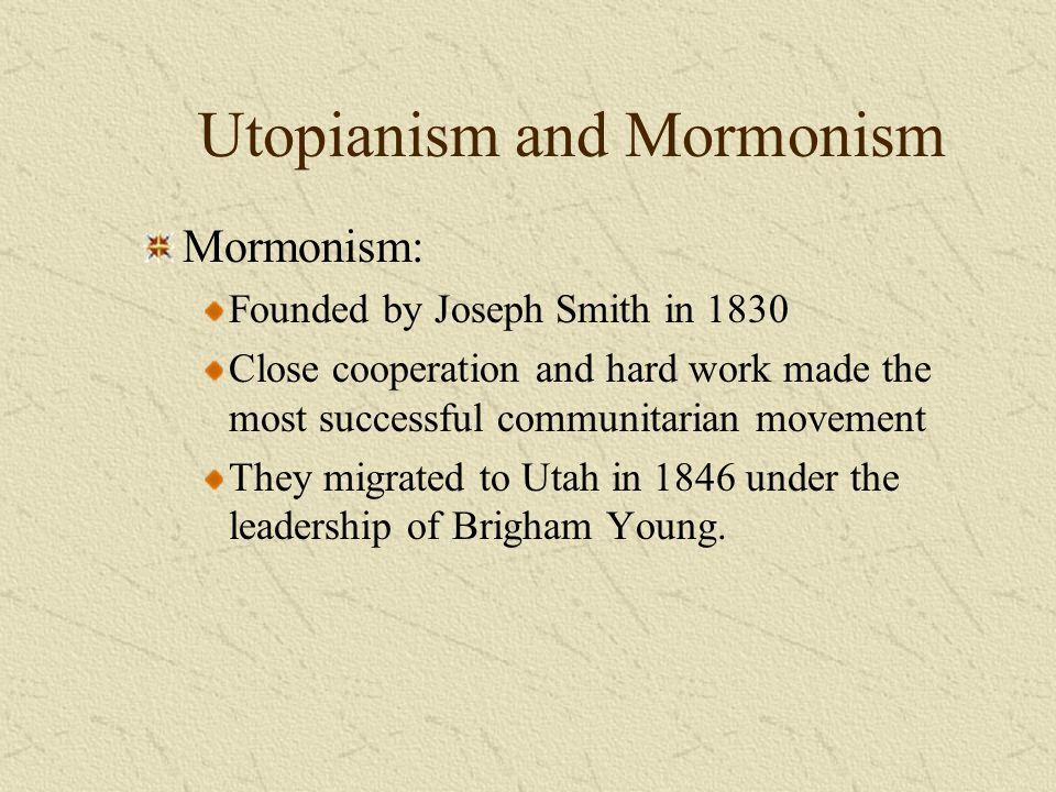 Utopianism and Mormonism