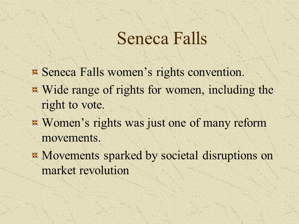 Seneca Falls Seneca Falls women's rights convention.