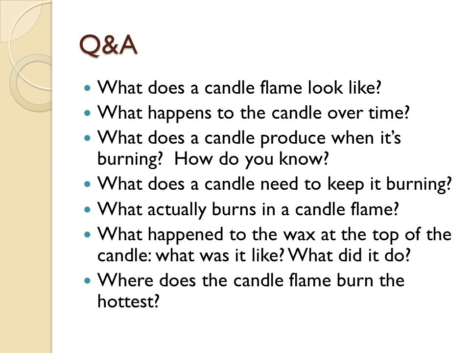 Q&A What does a candle flame look like