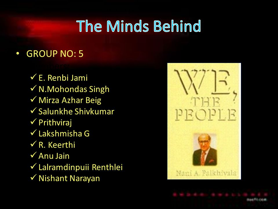 The Minds Behind GROUP NO: 5 Members: E. Renbi Jami N.Mohondas Singh