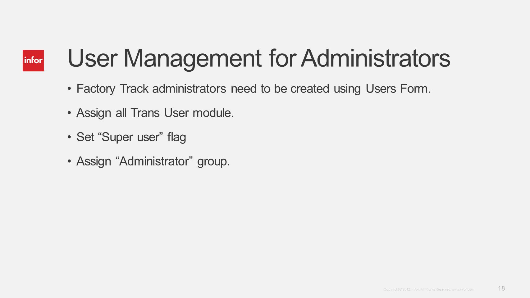 User Management for Administrators