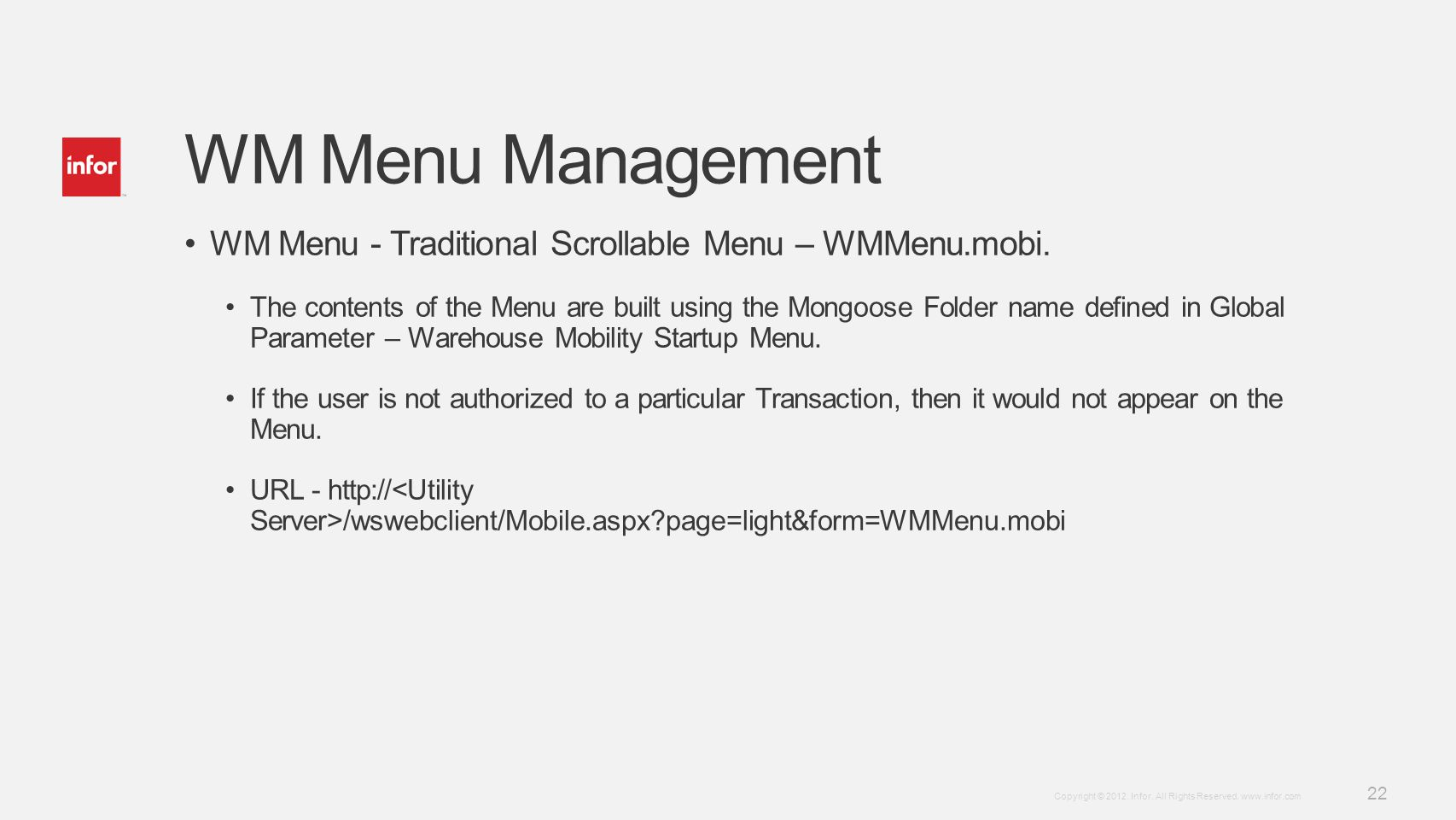 WM Menu Management WM Menu - Traditional Scrollable Menu – WMMenu.mobi.