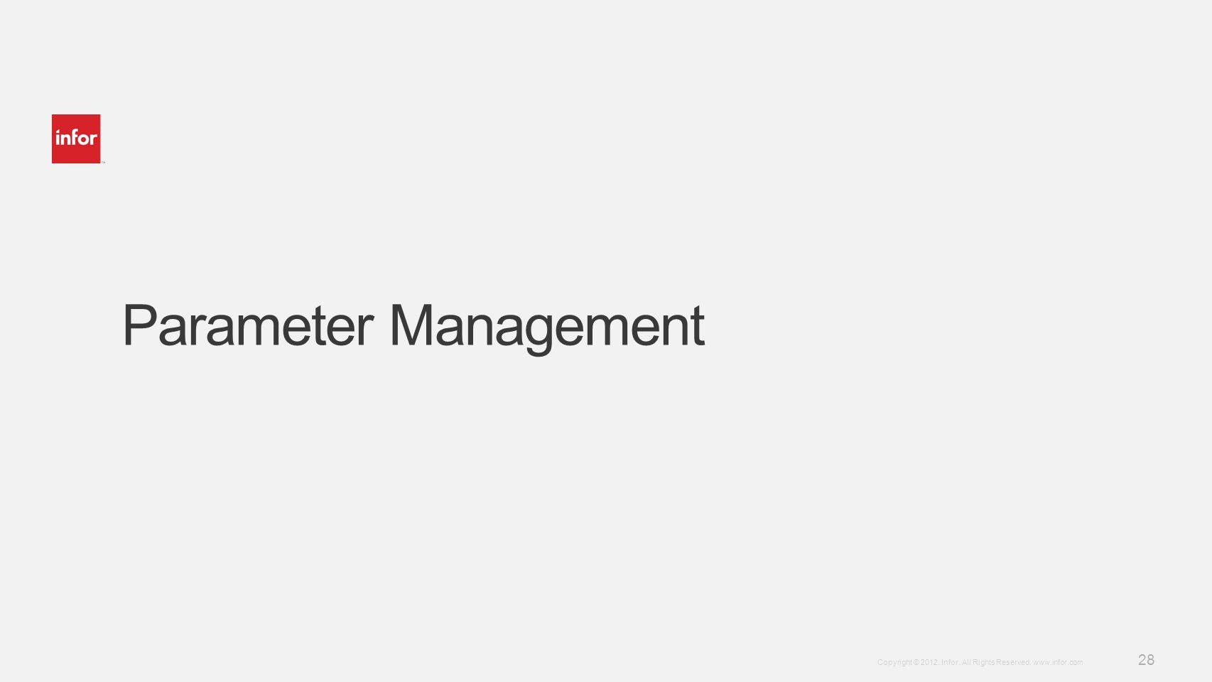 Parameter Management