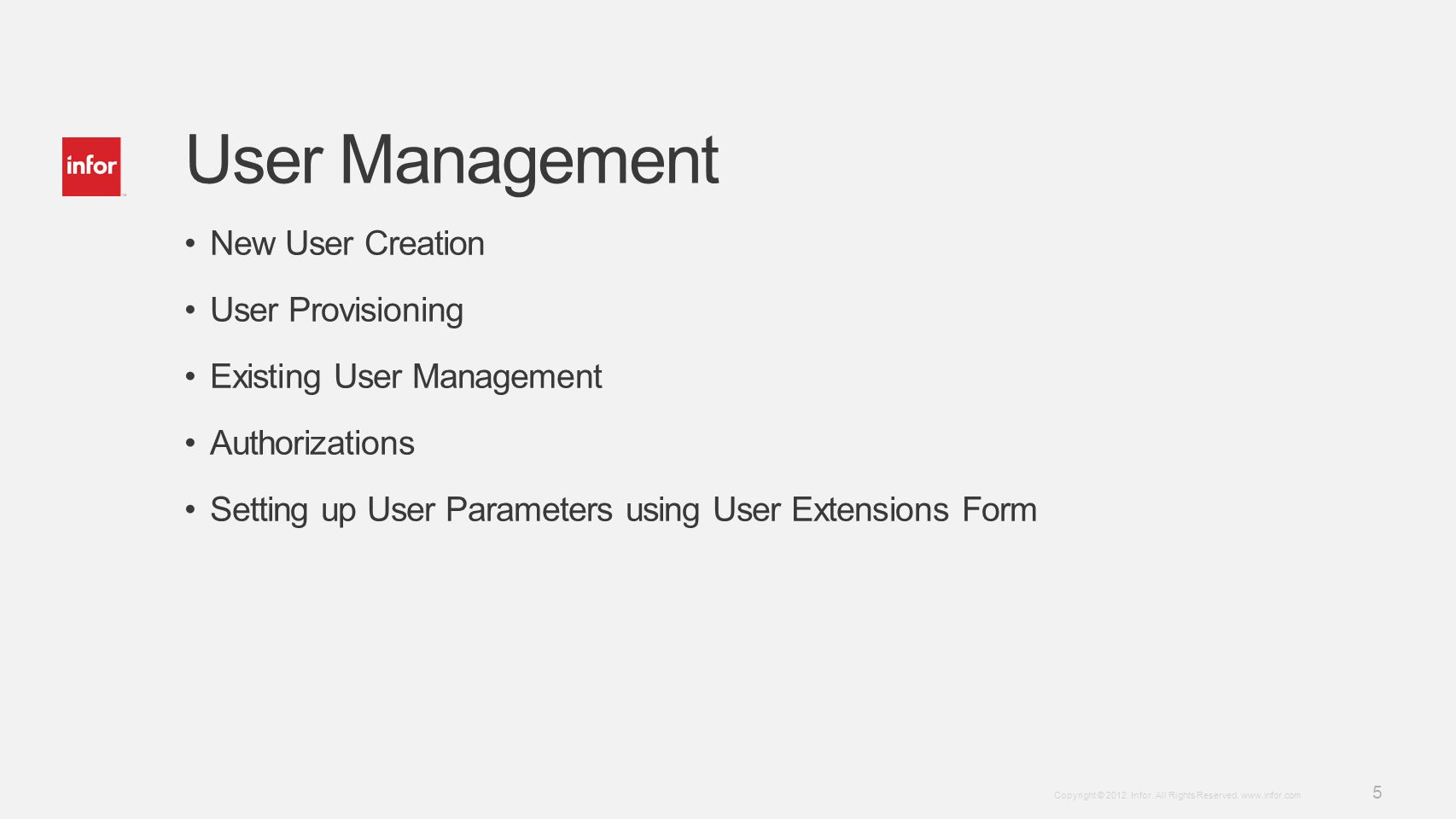 User Management New User Creation User Provisioning