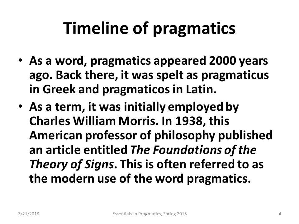 Timeline of pragmatics
