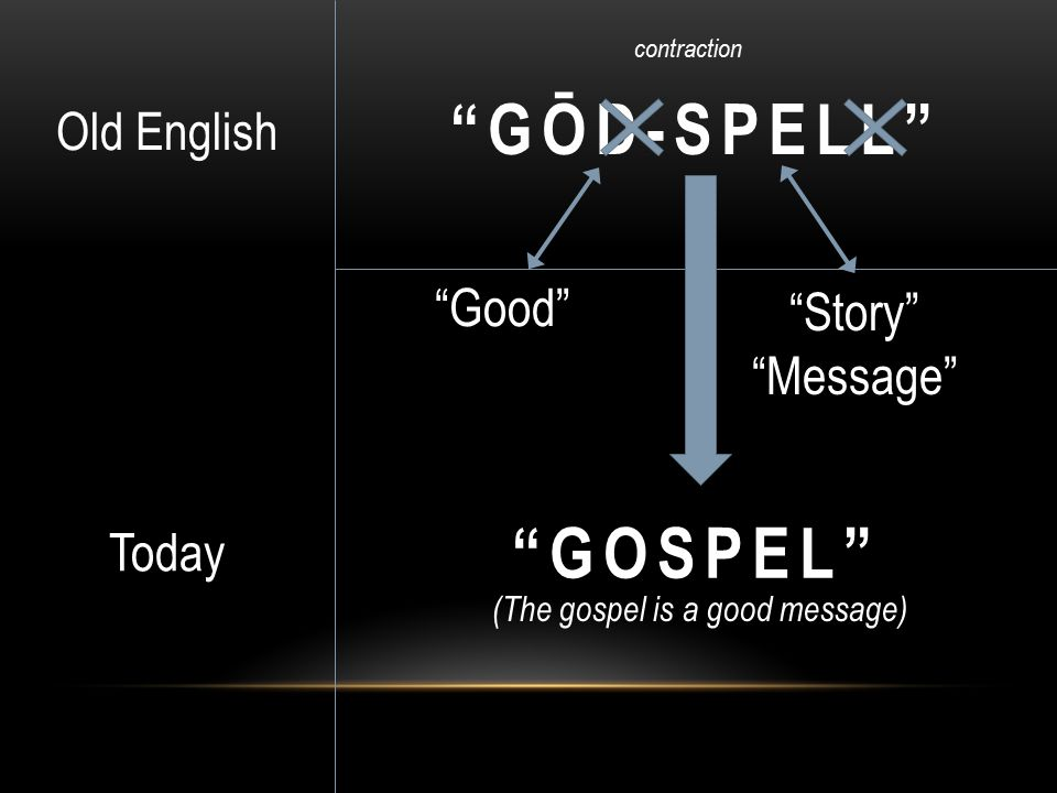 (The gospel is a good message)