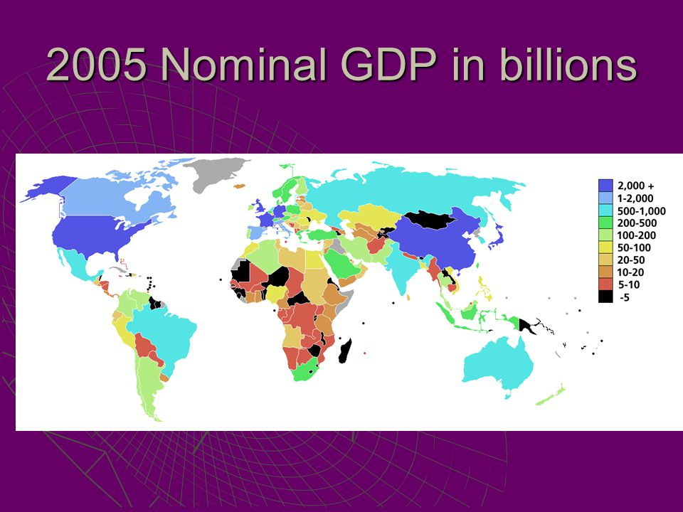 2005 Nominal GDP in billions