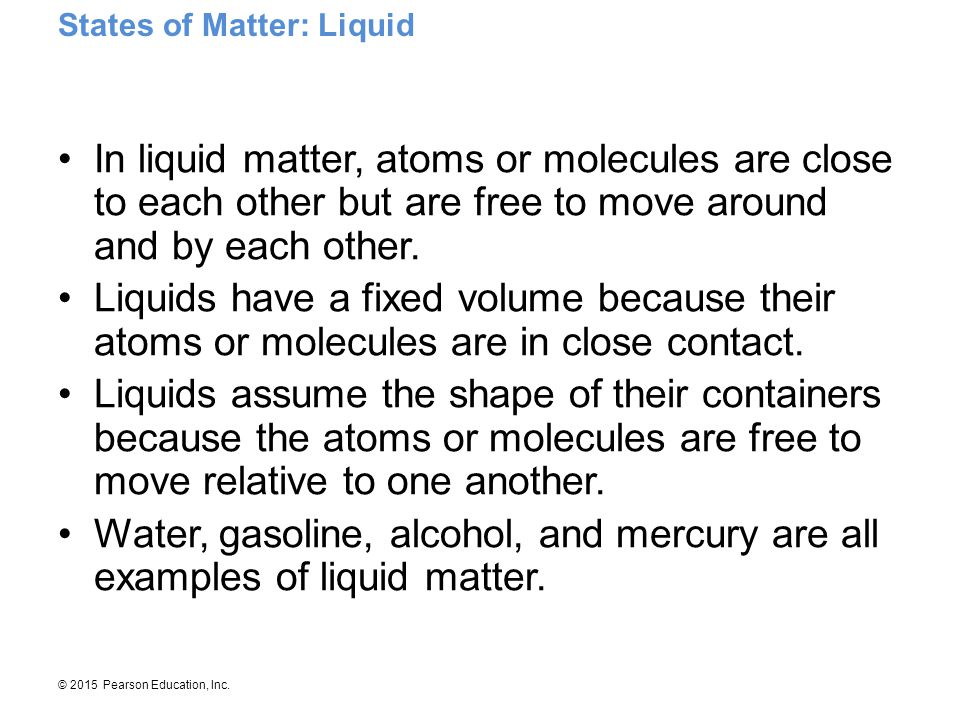 States of Matter: Liquid