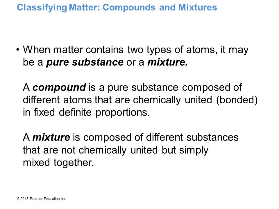 Classifying Matter: Compounds and Mixtures