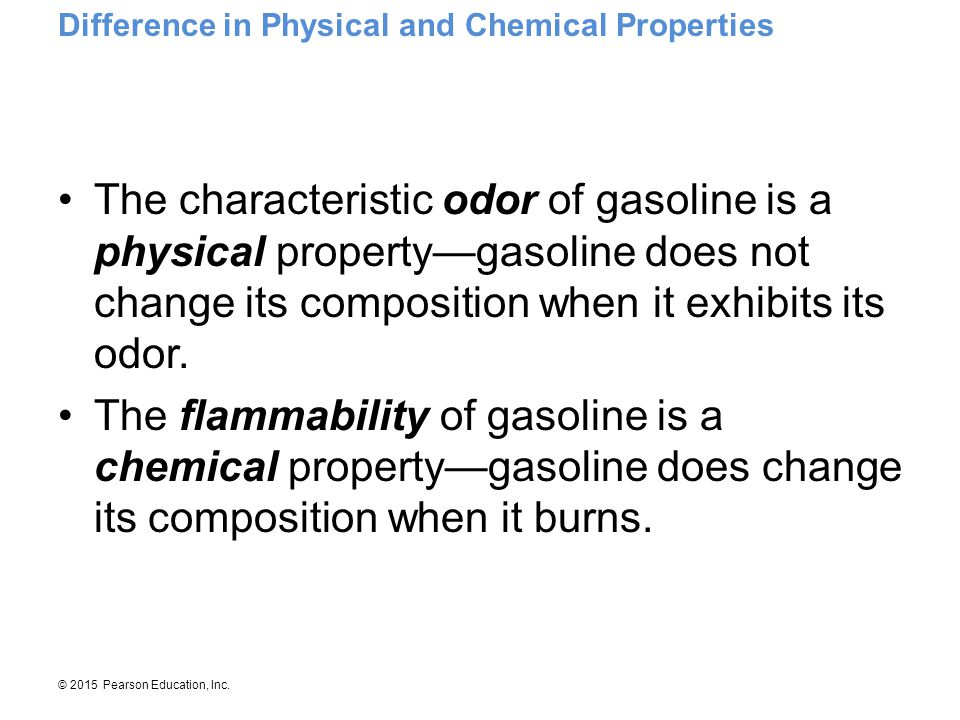 Difference in Physical and Chemical Properties