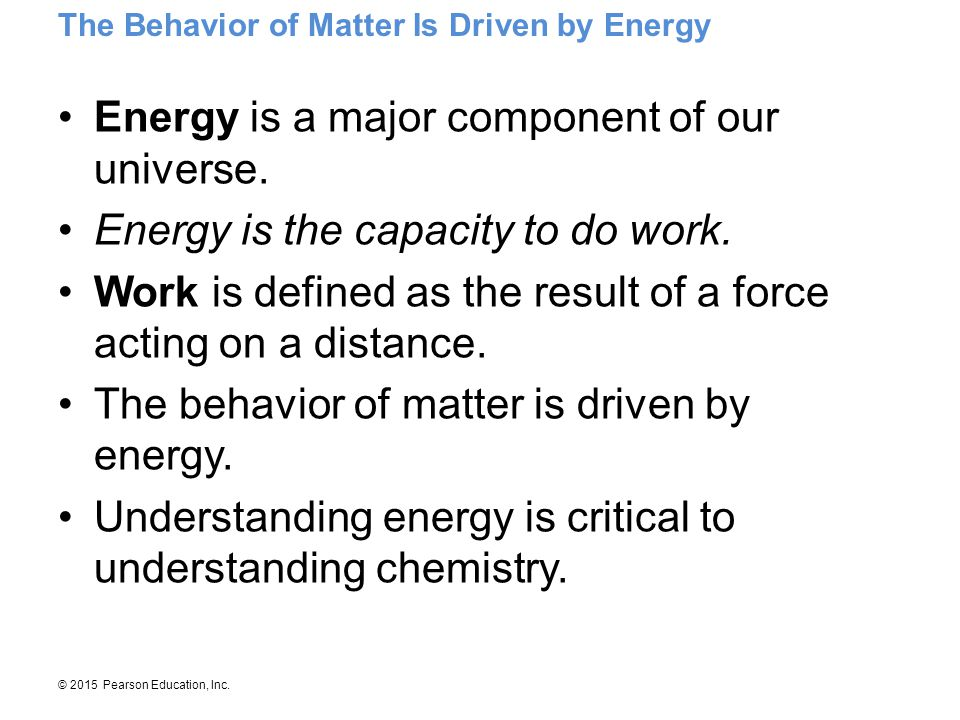 Energy is a major component of our universe.