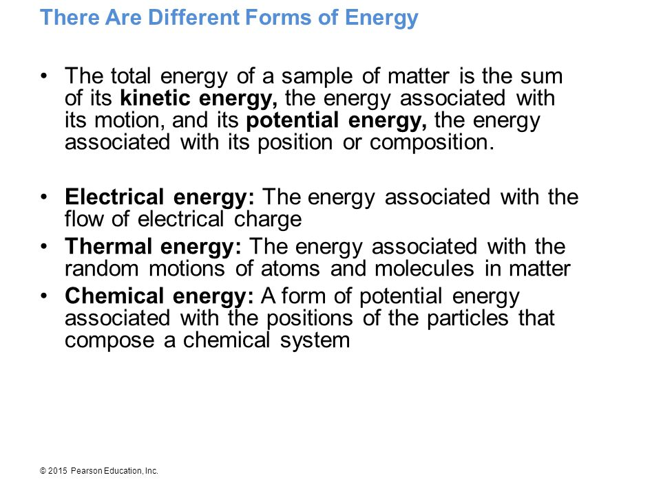 There Are Different Forms of Energy