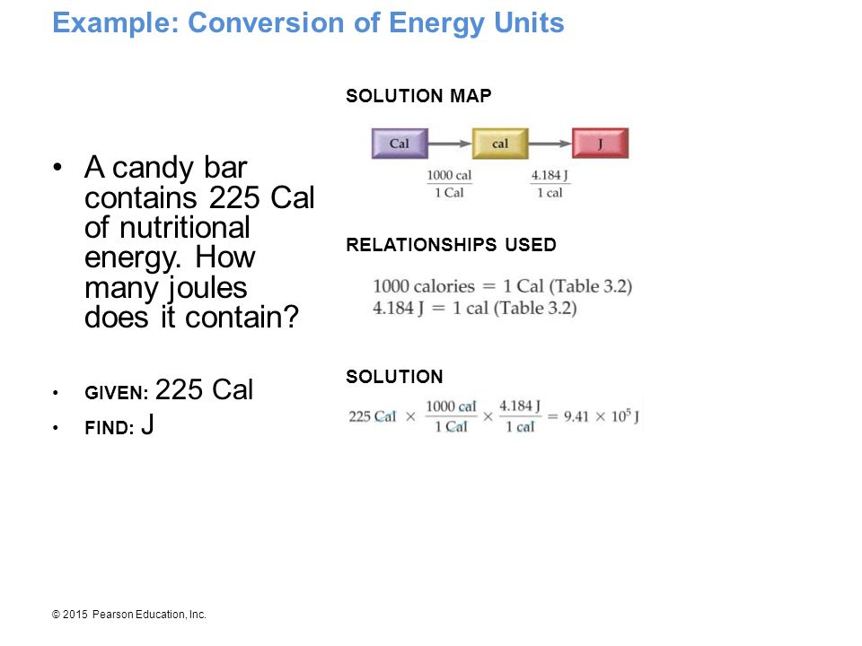 Example: Conversion of Energy Units