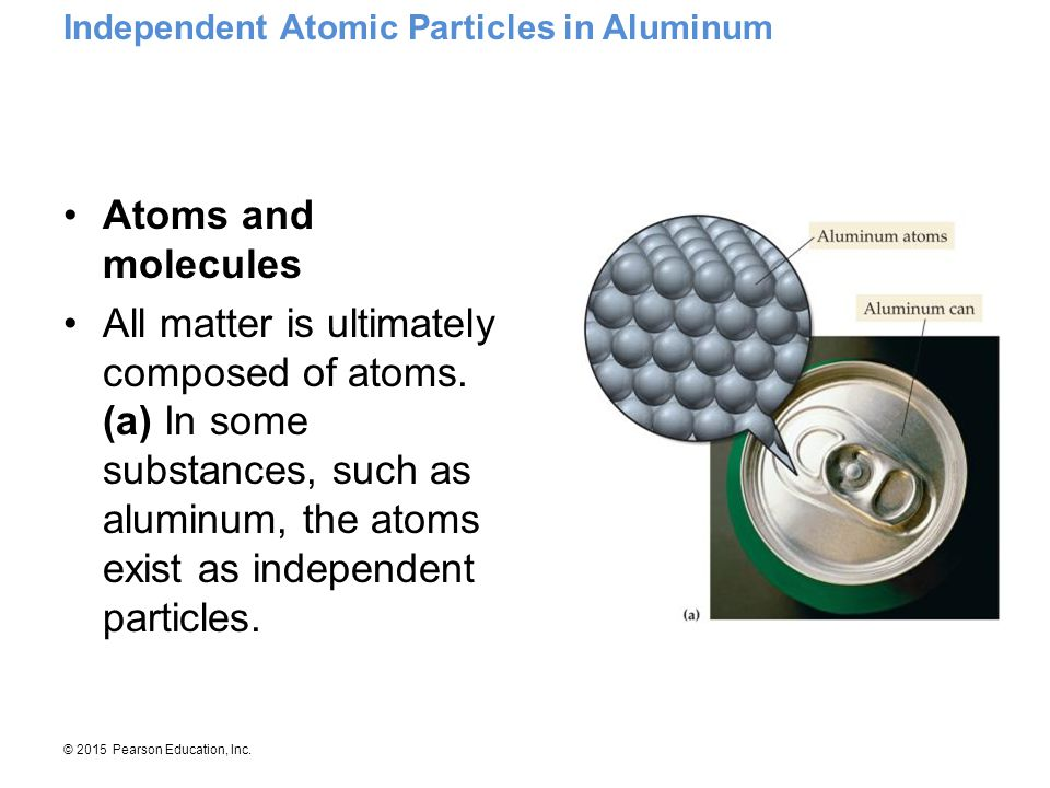 Independent Atomic Particles in Aluminum