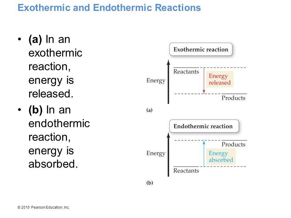 (a) In an exothermic reaction, energy is released.