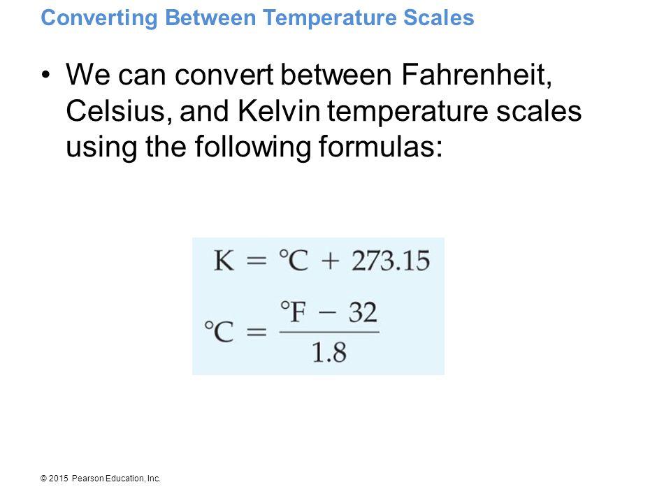 Converting Between Temperature Scales