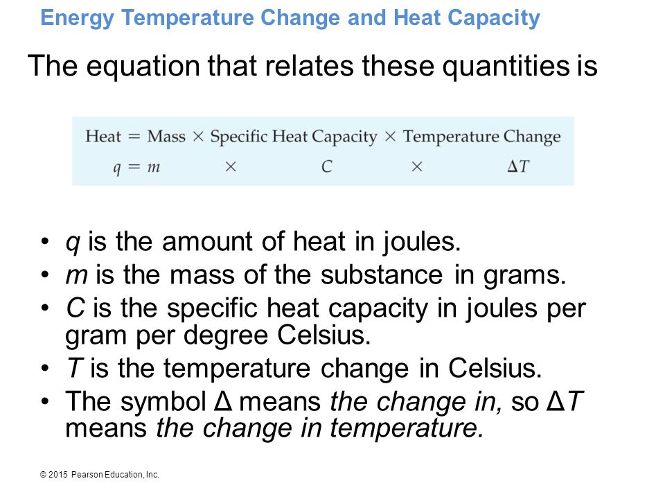 The equation that relates these quantities is
