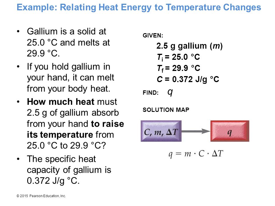 Example: Relating Heat Energy to Temperature Changes