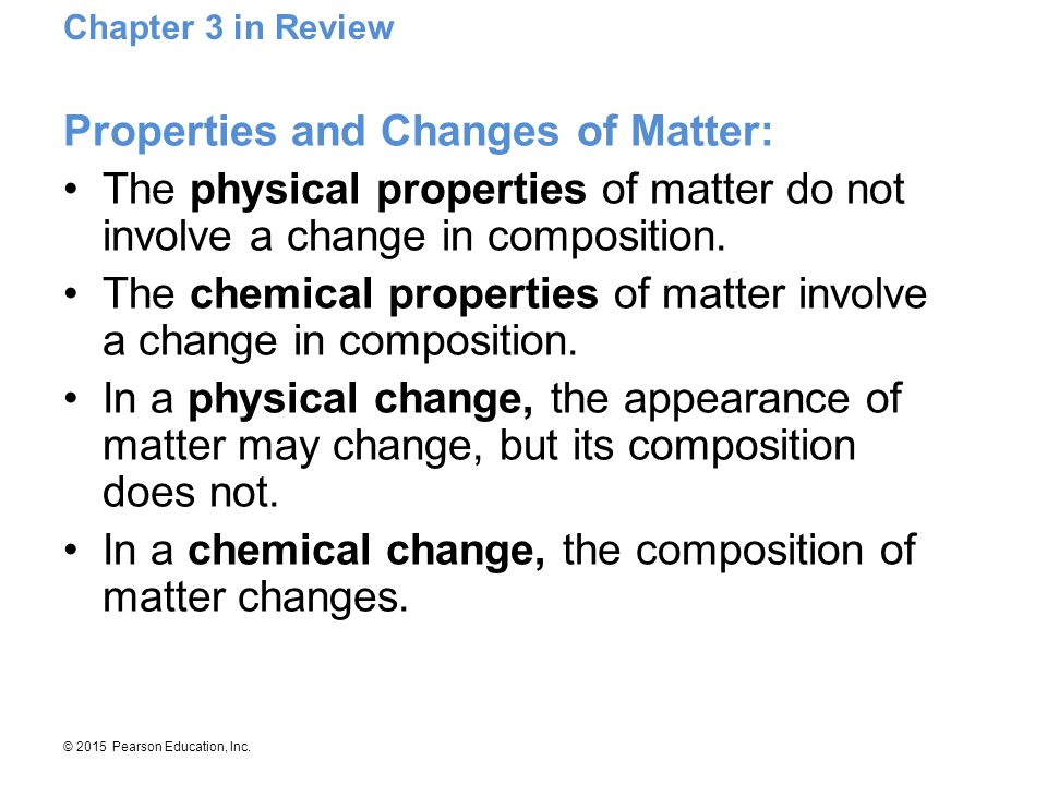 Properties and Changes of Matter: