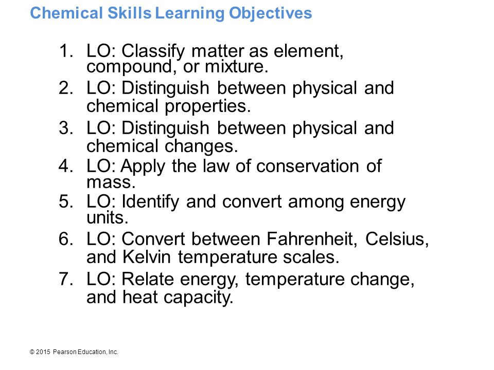 LO: Classify matter as element, compound, or mixture.