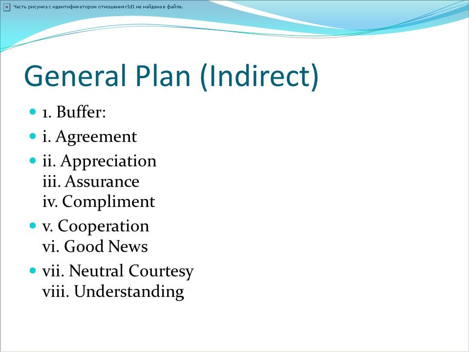 General Plan (Indirect)