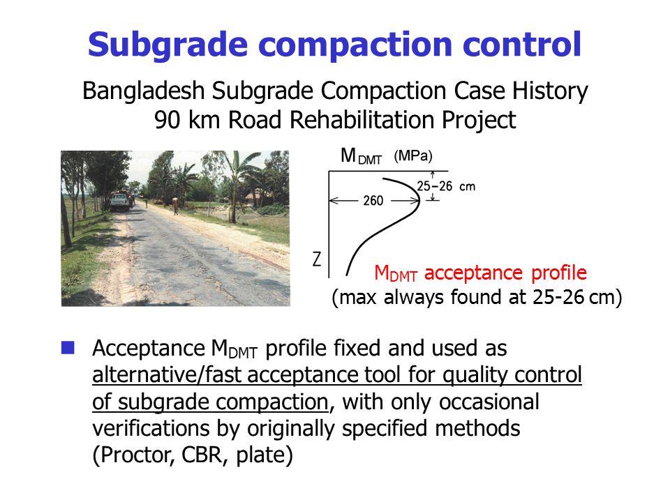 Subgrade compaction control