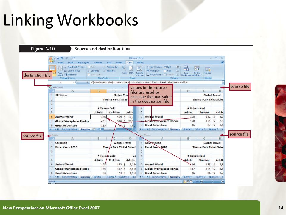 Linking Workbooks New Perspectives on Microsoft Office Excel 2007