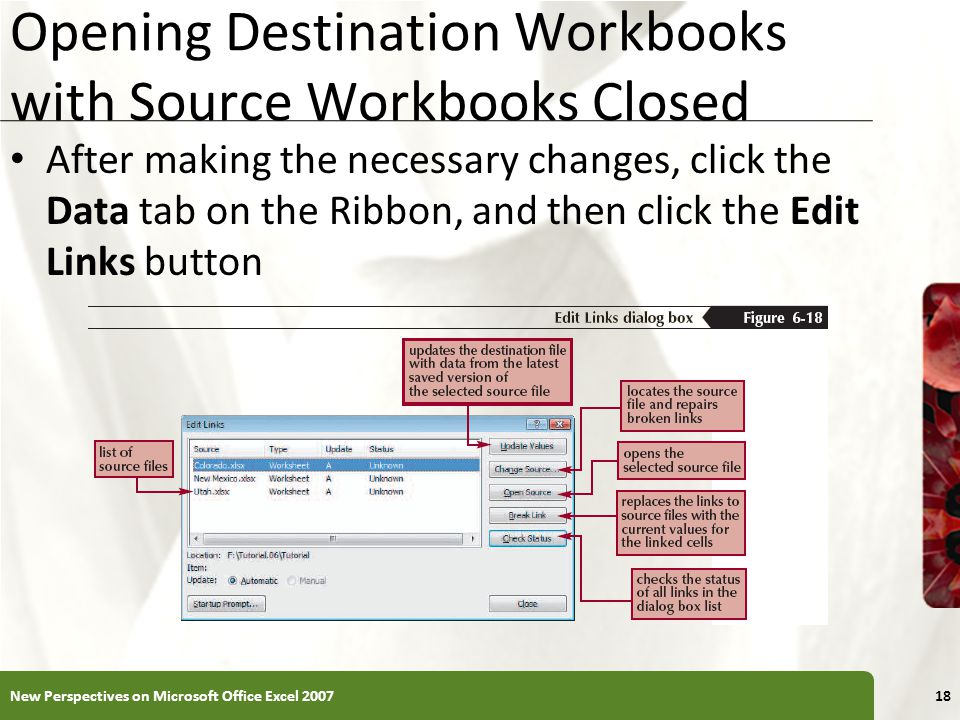 Opening Destination Workbooks with Source Workbooks Closed