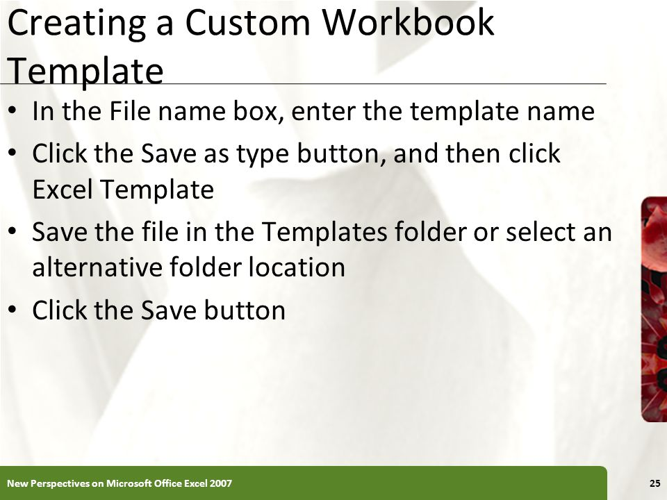 Creating a Custom Workbook Template