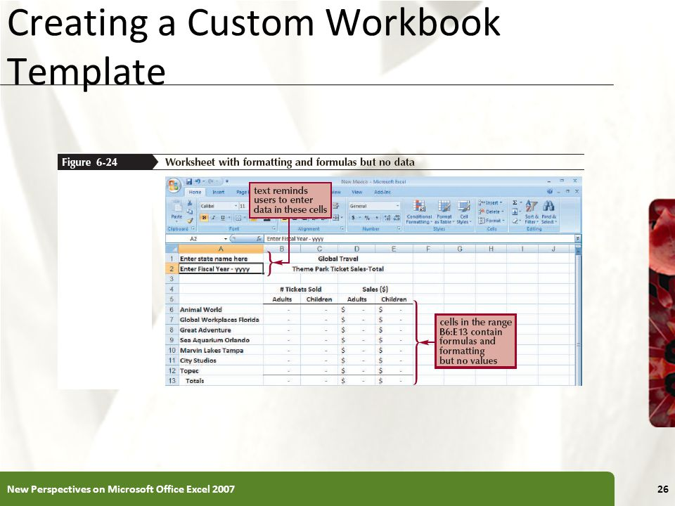 Creating a Custom Workbook Template