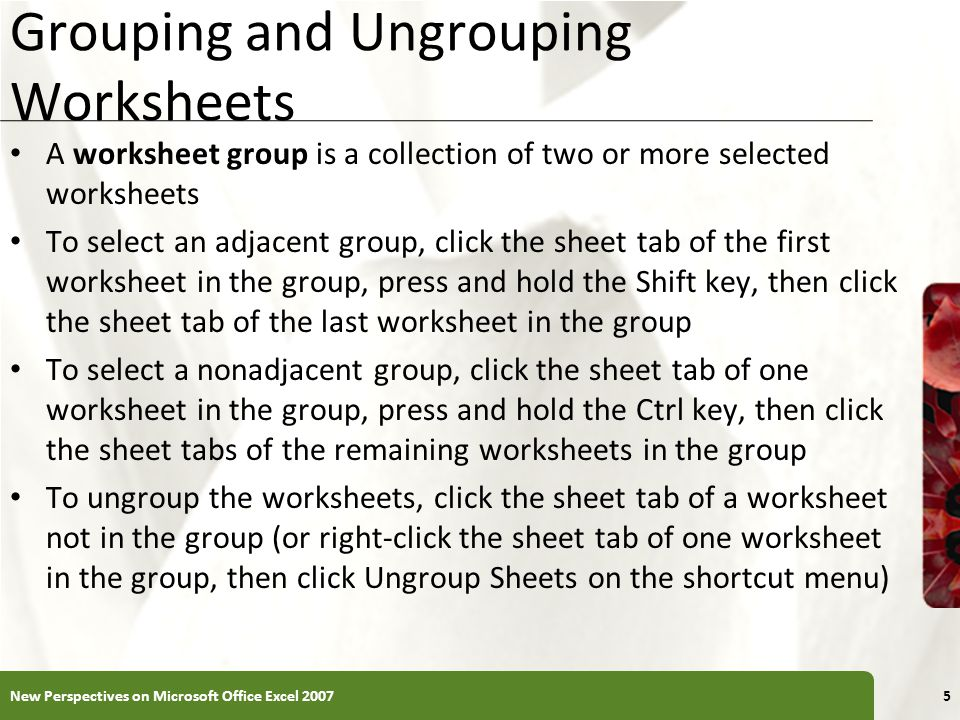 excel tutorial 6 managing multiple worksheets and workbooks ppt download. Black Bedroom Furniture Sets. Home Design Ideas
