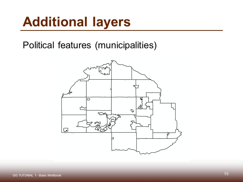 Additional layers Political features (municipalities)