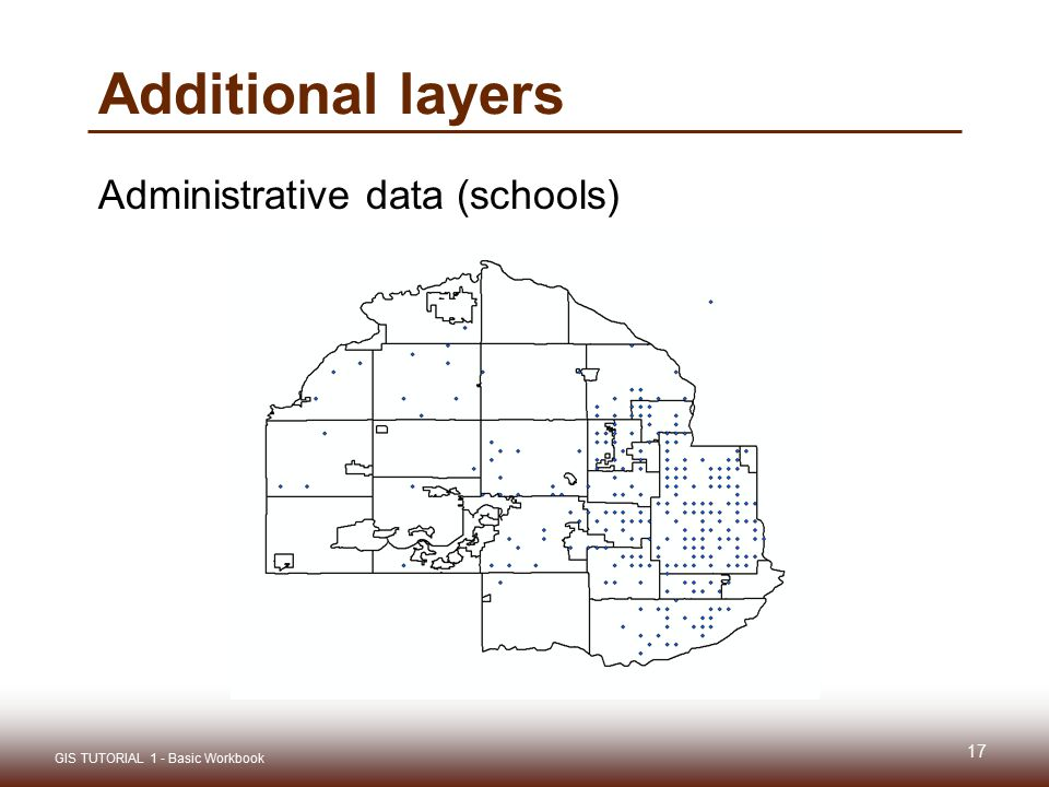 Additional layers Administrative data (schools)