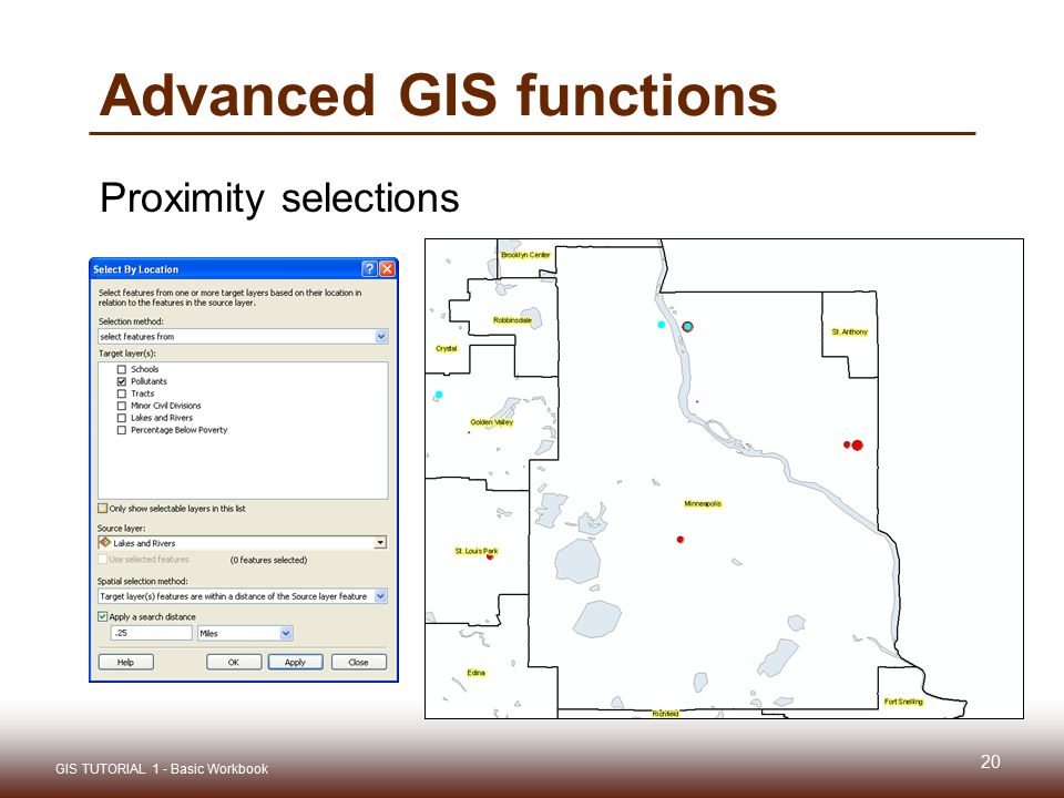 Advanced GIS functions