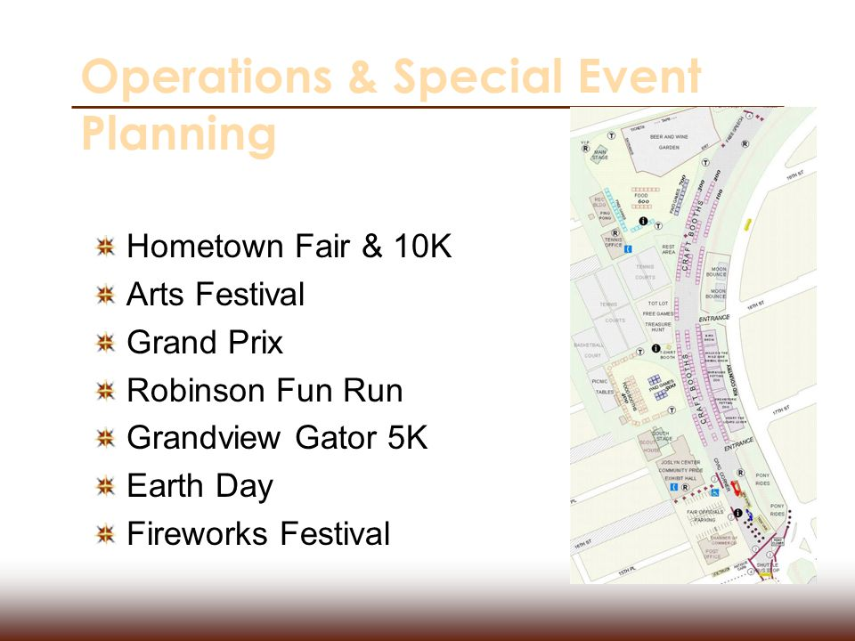 Operations & Special Event Planning