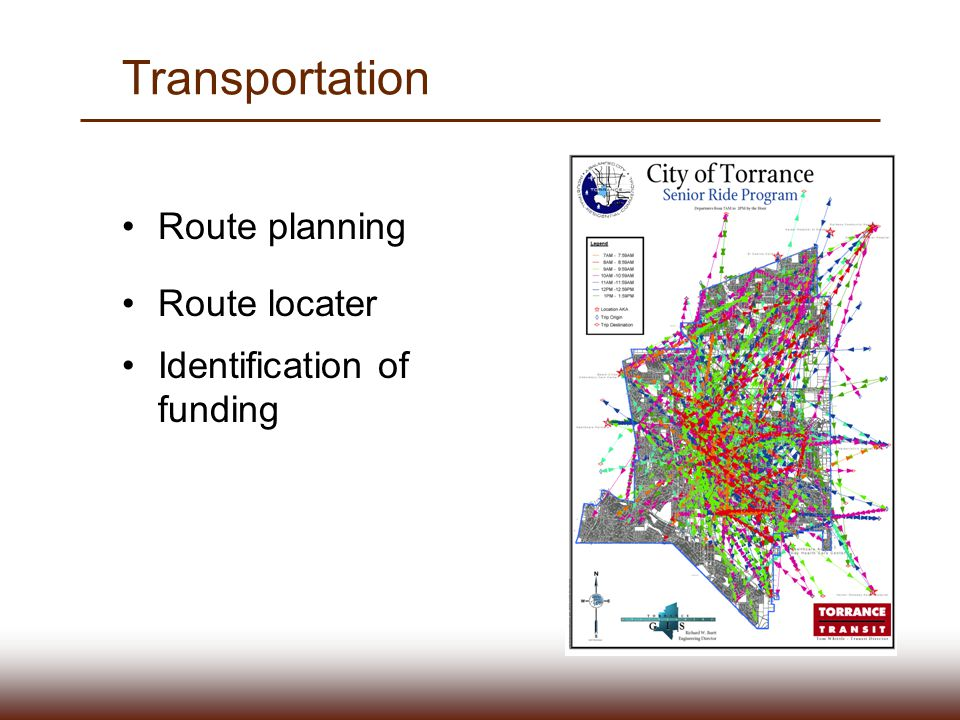 Transportation Route planning Route locater Identification of funding