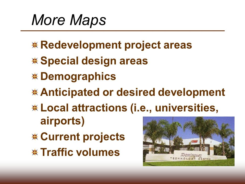 More Maps Redevelopment project areas Special design areas