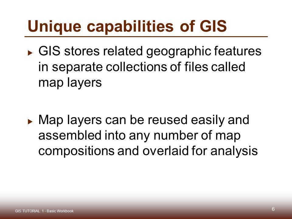 Unique capabilities of GIS