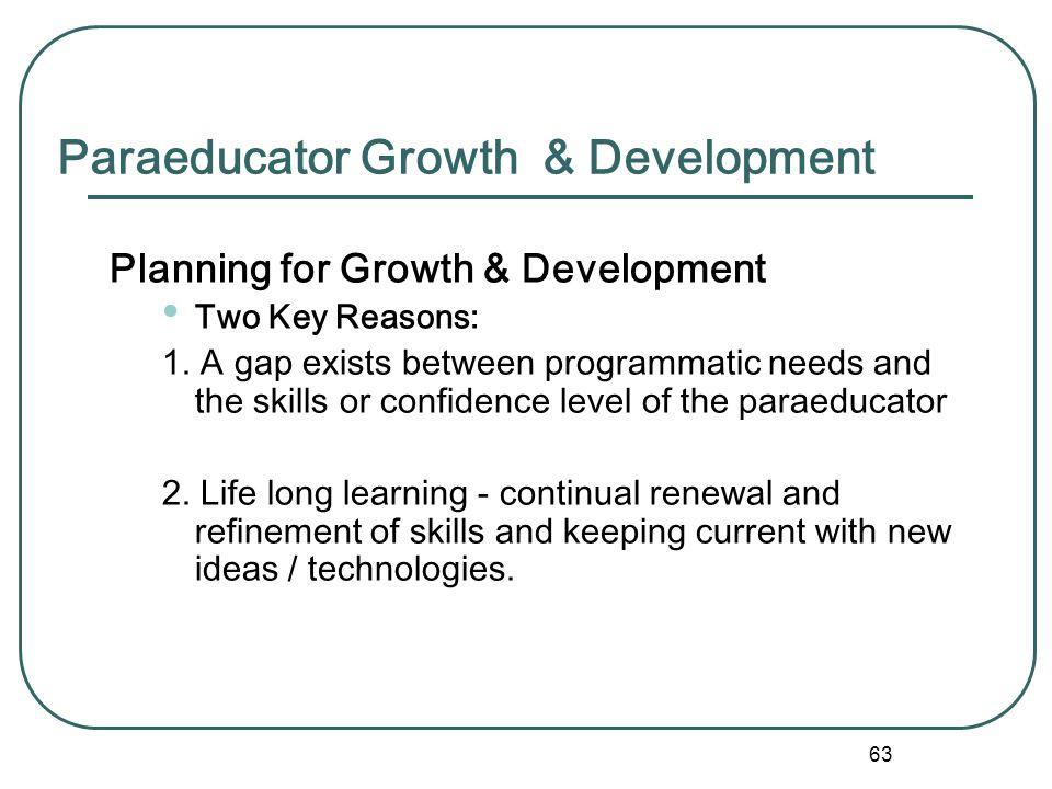 Paraeducator Growth & Development