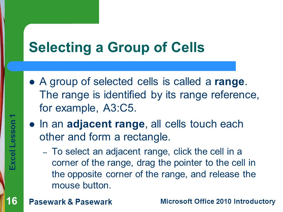 Selecting a Group of Cells