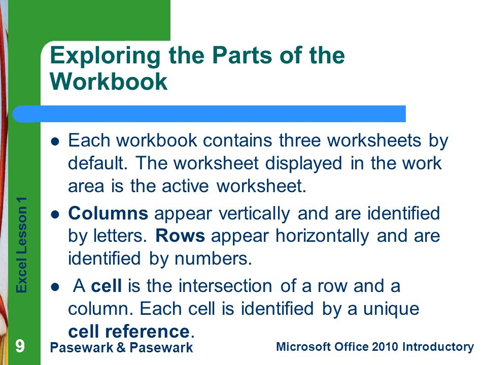 Exploring the Parts of the Workbook