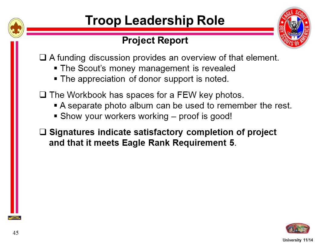Troop Leadership Role Project Report