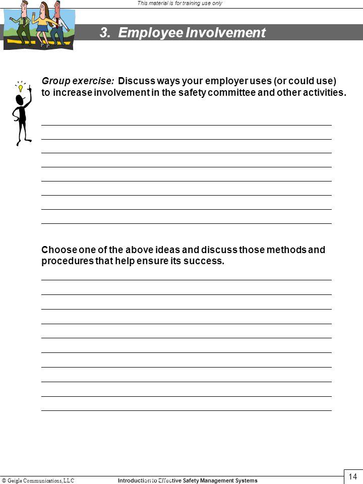 3. Employee Involvement