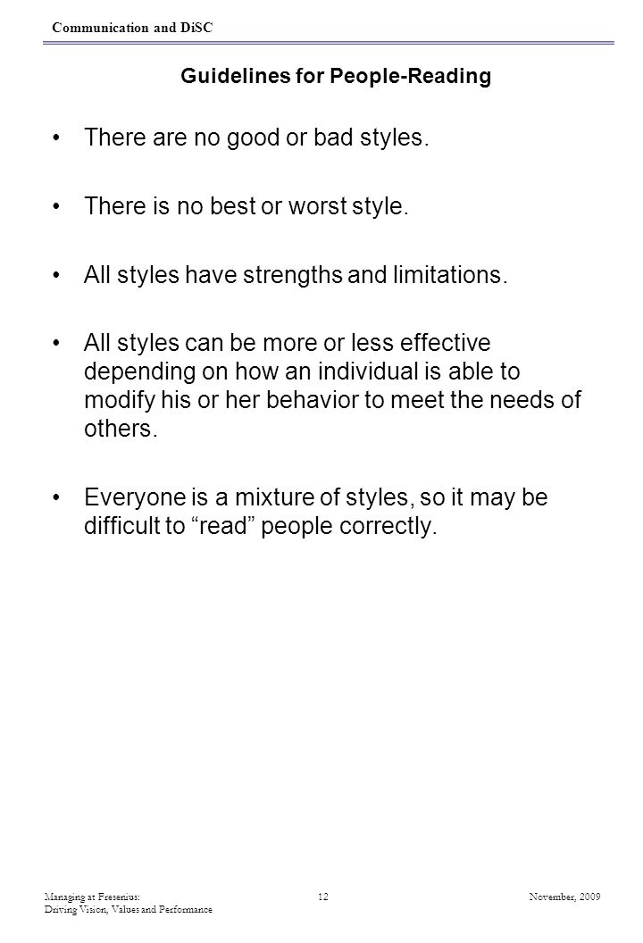 Guidelines for People-Reading